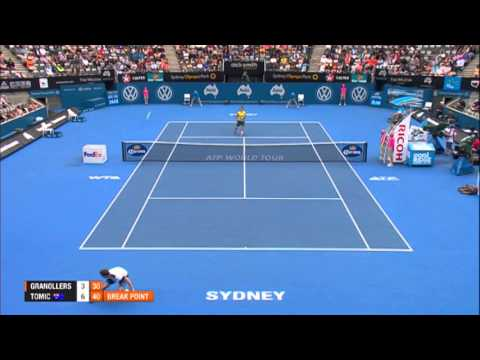 Marcel GRANOLLERS (ESP) vs Bernard TOMIC (AUS) HIGHLIGHTS Apia International Sydney 2014