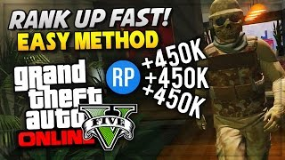 GTA 5 Online How To Rank Up Fast & Level Up Easy RP