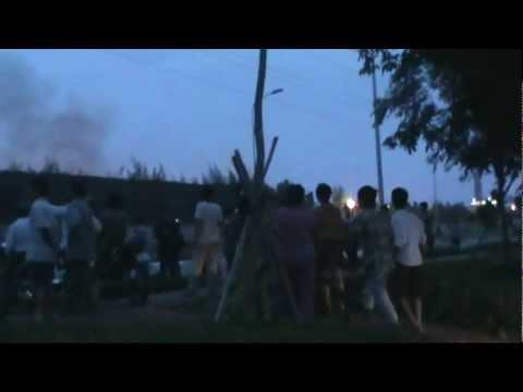 Cháy nổ lớn Nhà máy Thép Việt Phú Mỹ Tân Thành 24-12-2012 Part1
