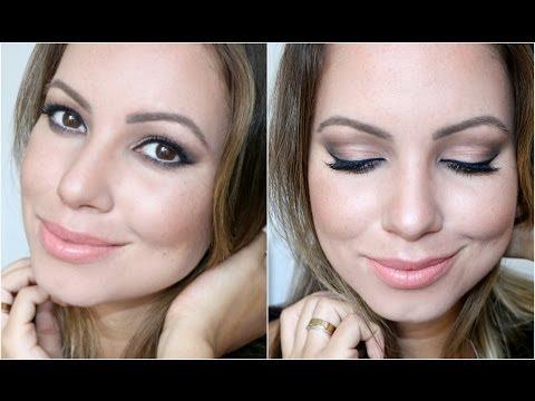 Maquiagem Completa para o Dia | Pele, Olhos, Contornos, Batom