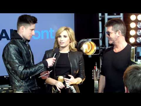 Demi Lovato & Simon Cowell of 'X-factor' @ Fox Fan Upfront Event Extravaganza 2013