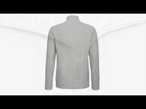 Bogner Udo Mens Fleece Midlayer in Light Grey