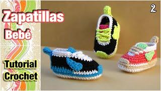Crochet Tutorial Zapatitos Escarpines Abril : DIY CoMO TEJER PATUCOS SANDALIA PARA BEBE (PATRONES GRATIS) - VIDEOS ...