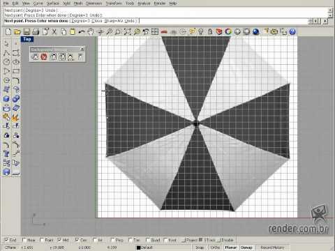 Como modelar um Guarda-chuva no Curso Rhinoceros 4.0 Essencial