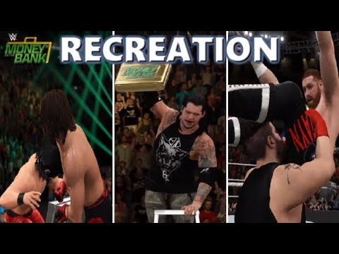 WWE 2K17 RECREATION: MONEY IN THE BANK MATCH 2017 HIGHLIGHTS