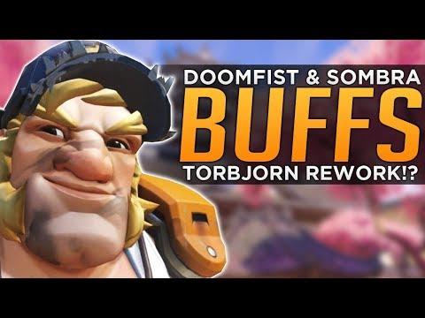 Overwatch: Sombra & Doomfist BUFFS Coming! - Torbjorn RE-WORK!?