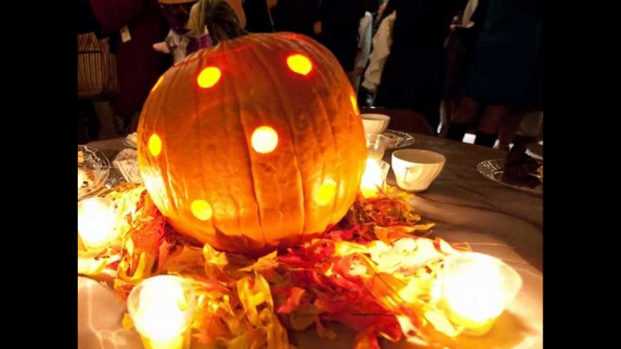 10 simple fall wedding ideas for couples on a budget youtube for Simple pumpkin centerpieces