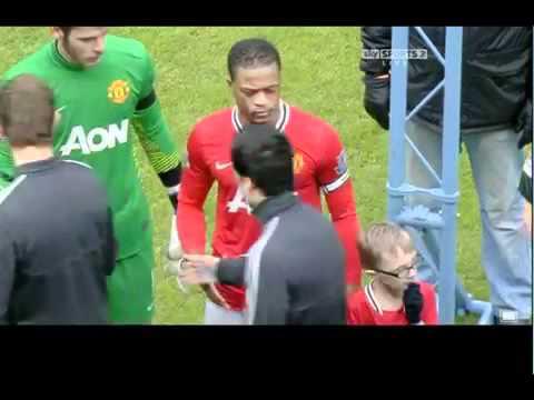 Luis Suarez Patrice Evra Handshake Incident 11_02_12
