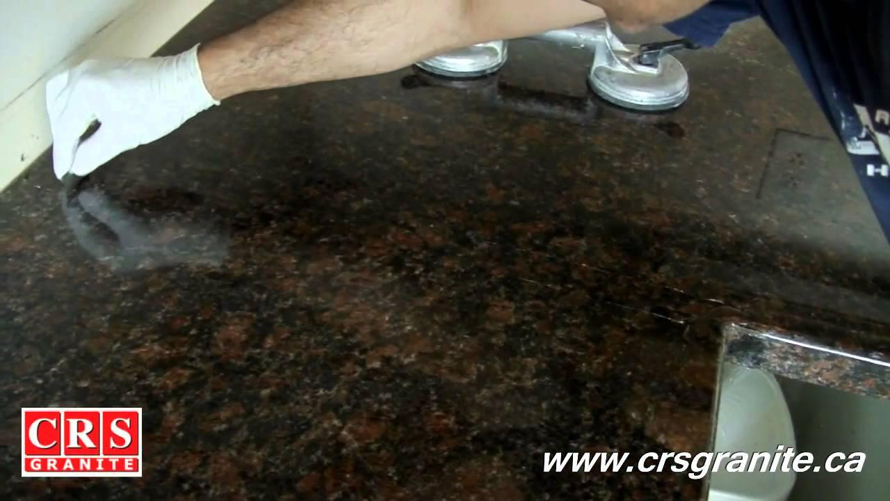 Countertop Repair Kit : Granite Countertops by CRS Granite - How to Repair a Seam - YouTube