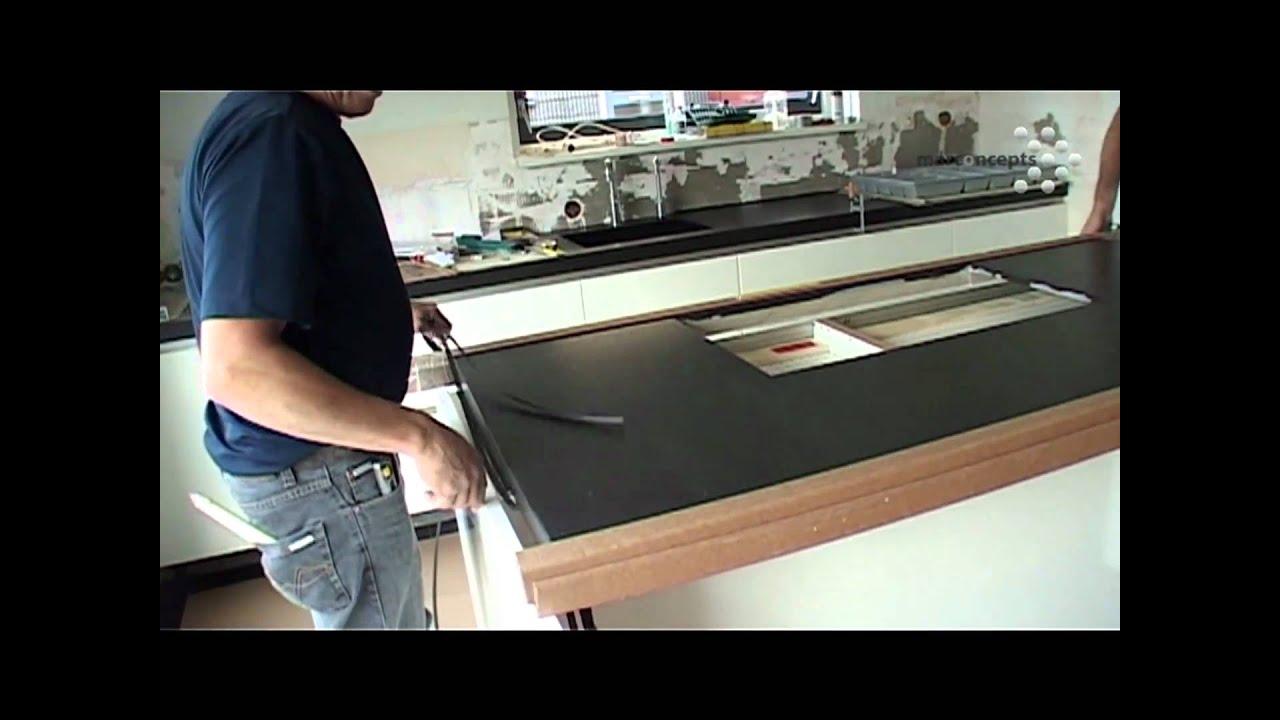 De montage van een keuken het kookeiland een videoverslag youtube - Hoe een keuken te verlichten ...