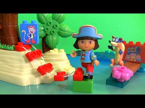 MEGABLOKS Dora's Pirate Adventure from Nickelodeon Dora the Explorer Unboxing by FunToys