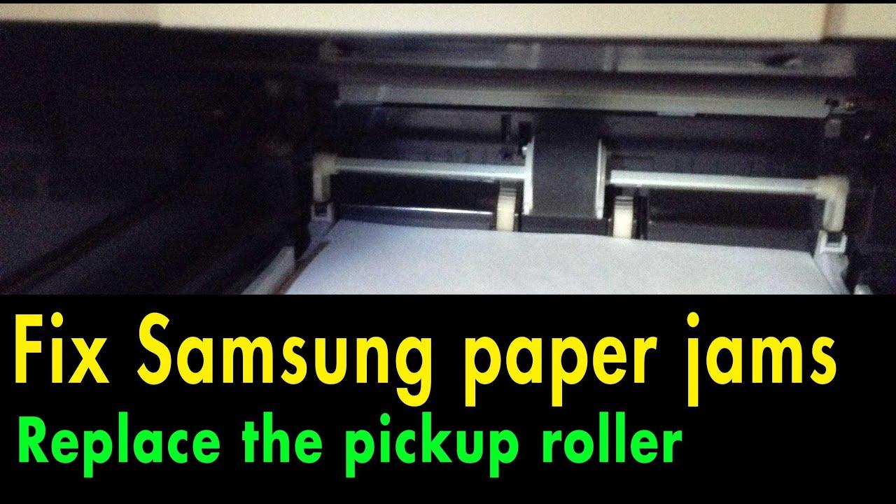 Как снять ролик захвата бумаги samsung 1640