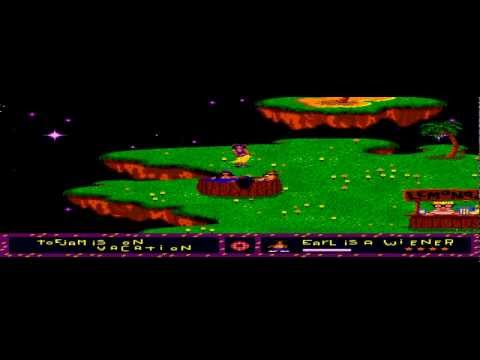 ToeJam & Earl - Toe Jam Earl - Visiting paradise on Level 0 (Extra life trick) - Sega Megadrive - User video