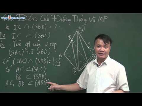 Tìm giao điểm của đường thẳng và mặt phẳng - Thầy Phạm Quốc Vượng