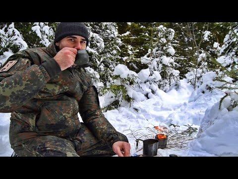 Noch ein letzter Kaffee ... Winter Waldläufer Lager - Tag 4