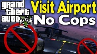 GTA 5 STEAL A PLANE WITH NO COPS CHASING YOU (How To
