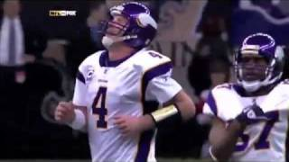 Brett Favre Interception By Saints Tracy Porter NFC