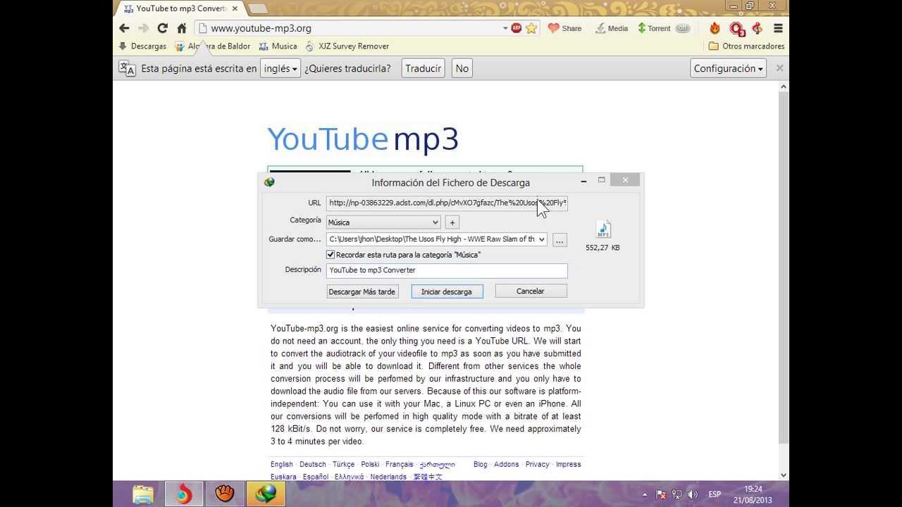 como bajar musica de youtube sin descargar programas