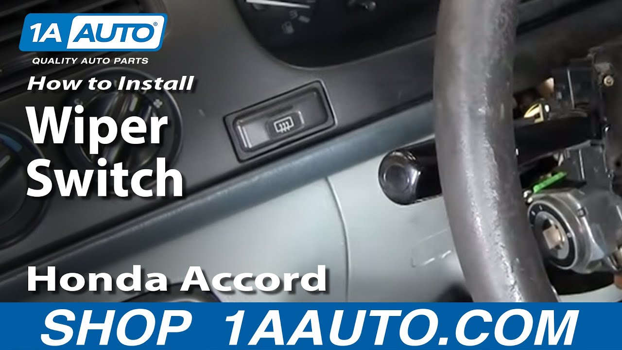 How To Install Replace Wiper Switch Stalk Honda Accord