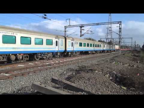Shiny Silver LHB Coaches of 12009 Mumbai Ahmedabad Shatabdi with BRC WAP 5 30055