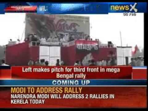 Left makes pitch for third front in mega Bengal rally - NewsX