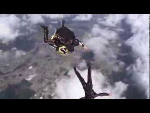 Haley Hinds with WINK-TV jumps with the Golden Knights