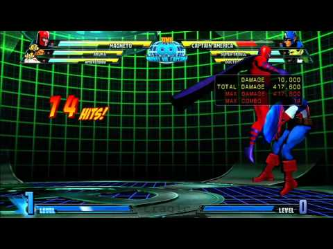 MvC3: Magneto - Combo 02 - Day 1 Air Dash Loop (Corner Variant)!
