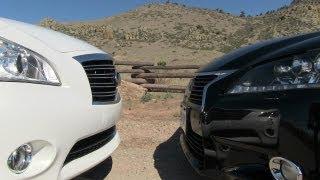 2013 Infiniti M Hybrid vs Lexus GS 450h 0-60 MPH Mashup Review videos