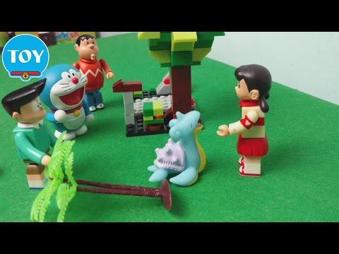 Doremon bắt Pokemon tập 1 ✔ Chú rùa con Rapurasu đi lạc - hoạt hình doraemon chế đồ chơi trẻ em