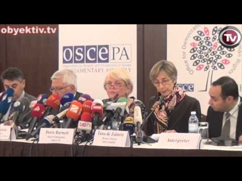 OSCE ODIHR RELEASES FINAL REPORT ON AZERBAIJAN PRESIDENTIAL ELECTION