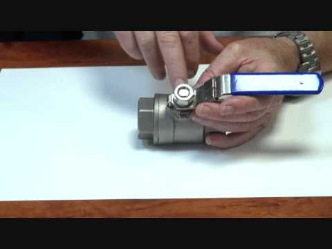 Series BVS - 2 way 2 piece stainless steel ball valve