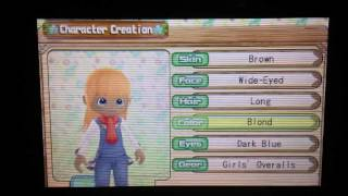 Harvest Moon A New Beginning - Character Creation Girl