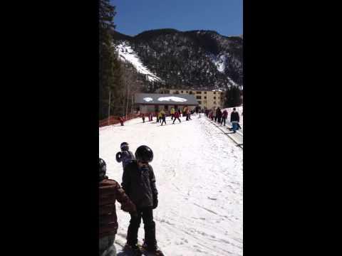 Jason ski at taos