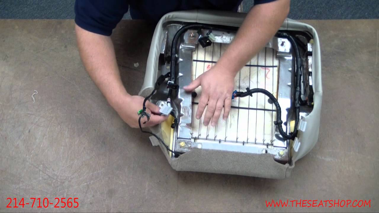 2003 Gmc Sierra Power Seat Wiring Diagram : Chevy gmc seat cover install of youtube