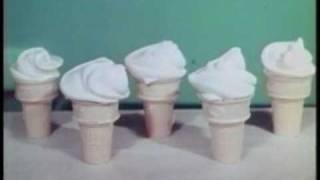 1950年代のアイスクリームのCM。全く美味そうに見えない。