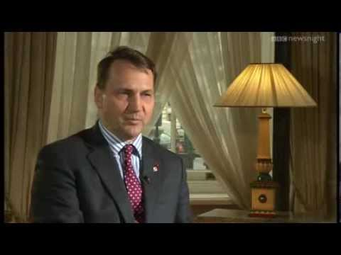 NEWSNIGHT: Could Ukraine split? Jeremy Paxman talks to the Polish FM