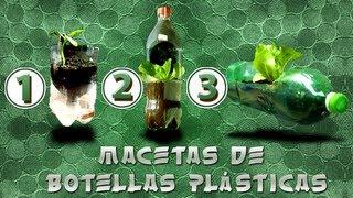 Hacer macetas con botellas plásticas