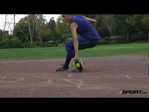 How to Field a Ground Ball with Your Backhand in Softball