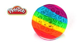 Play-Doh Rainbow Oreo Cookie How To Make Rainbow Dessert