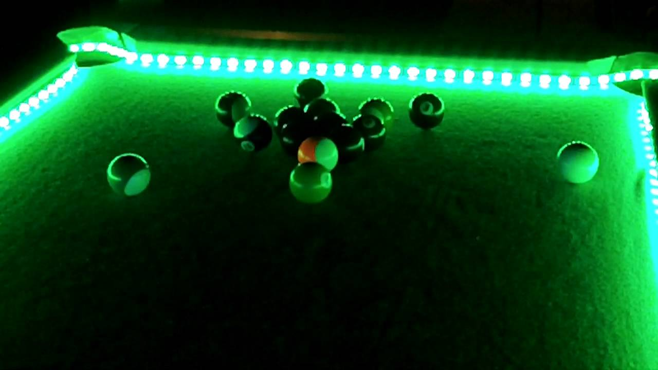 light up your pool table - YouTube
