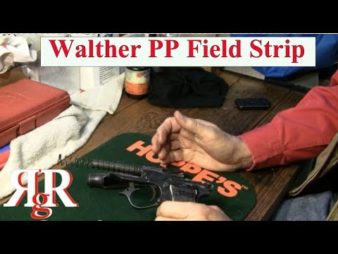 Walther PP (Police Pistol) Field Strip - YouTube