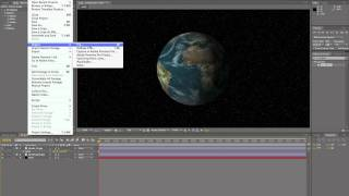 CS5 After Effects Rotating Earth With Orbiting Moon Tutorial