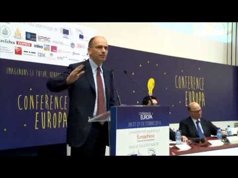 Università La Sorbonne, il presidente Letta interviene a