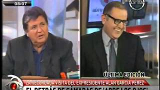 El detrás de cámaras de la entrevista de Alan García