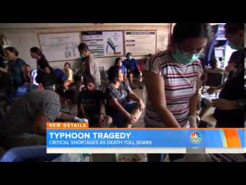 Typhoon Tragedy In Philippine critical shortages as Death toll Soars