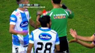 Eluchans apuntó al tobillo. Rafaela 2 - Lanús 1. Fecha 2. Torneo Primera División 2014. FPT
