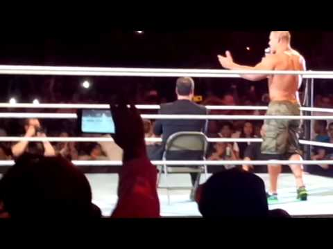 John Cena in Saudi Arabia - Riyadh messing with the fans :p