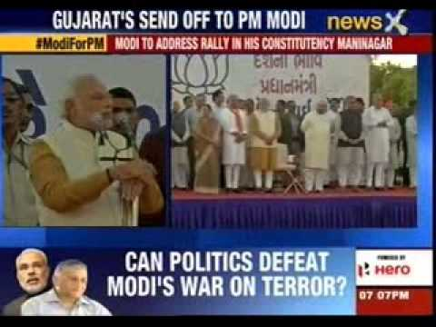 Narendra Modi's thank you rally in Gujarat