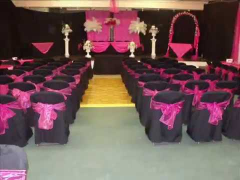 Faos Events Decoracion de boda fucshia y negro