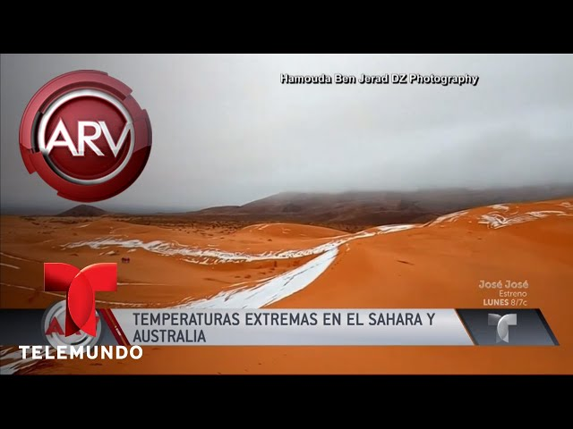 Increíble: nieva en el desierto de Sahara